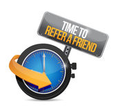 Time to refer a friend sign concept Stock Photography