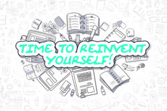 Time To Reinvent Yourself - Business Concept. Stock Images