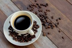 Coffee cup with coffee bean stock image