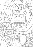 Time to relax. coloring page for adults, anti-stress Royalty Free Stock Photography