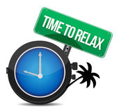 Time to relax concept. Illustration design over white Royalty Free Stock Photography
