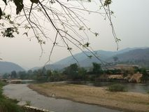 Time to Relax. Kok River Maeai, Chiang Mai, Thailand Royalty Free Stock Photos