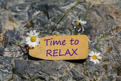 Time to relax label stock photography