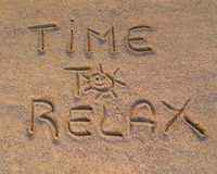 Time to relax sign Stock Photos