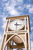 Time To Remember. Clock against blue sky Stock Photos