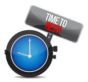Time to rest concept Royalty Free Stock Photos