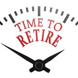 Time to retire clock Royalty Free Stock Image