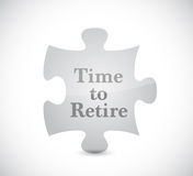 Time to retire puzzle concept illustration design. Graphic Royalty Free Stock Images
