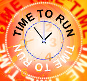 Time To Run Indicates Must Leave And Late Royalty Free Stock Image