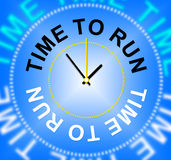 Time To Run Shows Under Pressure And Busy Royalty Free Stock Photos