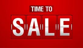 Time to Sale analog flip clock. Time to Sale analog flip red clock vector illustration