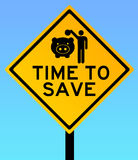 Time to save. And cut spending stock illustration
