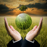 Time to save the environment concept Royalty Free Stock Photos