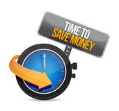 Time to save money illustration design Royalty Free Stock Photography