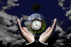 Time to save the planet concept Royalty Free Stock Image