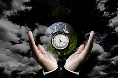 Time to save the planet concept Royalty Free Stock Photos