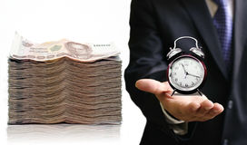 Time to save your money. Interest concept Royalty Free Stock Images