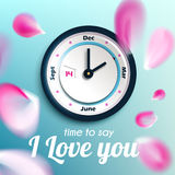 Time to say I love you – valentine day concept design Royalty Free Stock Photography