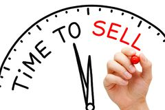 Time to Sell Clock Concept Stock Image