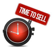 Time to sell concept. Illustration design over a white background Royalty Free Stock Image