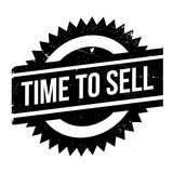 Time to sell stamp. Grunge design with dust scratches. Effects can be easily removed for a clean, crisp look. Color is easily changed Stock Images