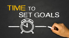 Time to set goals Stock Image