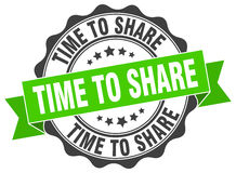 time to share stamp Royalty Free Stock Photo