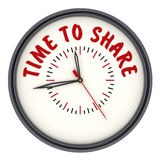 Time to share. Watches with an inscription Royalty Free Stock Image