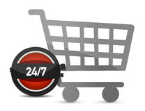 Time to shop illustration concept Royalty Free Stock Image