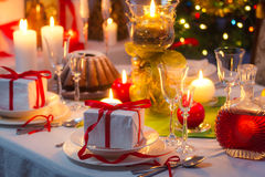 Time to sit around a Christmas table Stock Photography