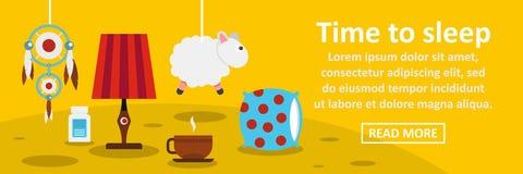 Time to sleep banner horizontal concept Stock Image