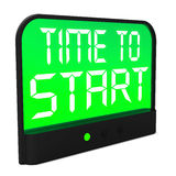 Time To Start Message Shows Beginning Or Activating. Time To Start Message Showing Beginning Or Activating Royalty Free Stock Photo