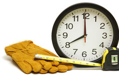 Time To Start Work. A clock reminds the workers that its time to start the day Royalty Free Stock Photos