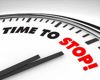 Free Time To Stop - Clock Royalty Free Stock Photos - 10595088