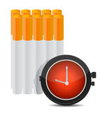 Time to stop smoking concept illustration Stock Photography