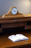 Time to Study Open Book Vintage Roll Top Desk Stock Photos