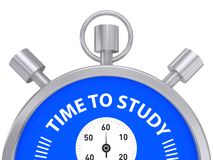 Time to study concept Royalty Free Stock Photo