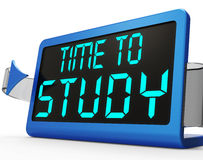 Time To Study Message Showing Education And Studying Stock Photo