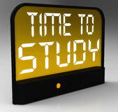 Time To Study Message Showis Education And Studying Royalty Free Stock Images