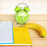 Time to study/ Time for lunch Royalty Free Stock Photos