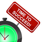 Time To Succeed Means Victor Victors And Progress Royalty Free Stock Photo