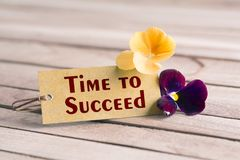 Time to succeed tag royalty free stock photography