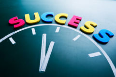Time to success concept Royalty Free Stock Image