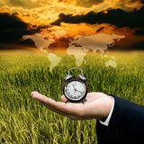 Time to sustainable business Stock Images