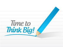 Time to think big message illustration design Royalty Free Stock Photography