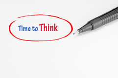 Time to Think - Business Concept Royalty Free Stock Photography