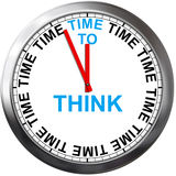 Time to Think. On a Clock Royalty Free Stock Photography