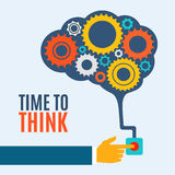 Time to think, creative brain idea concept, Royalty Free Stock Photos