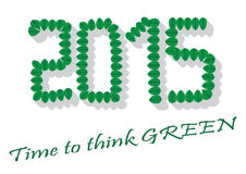 Time to think Green 2015. Simple stock images