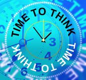 Time To Think Indicates About Idea And Reflection Royalty Free Stock Photography